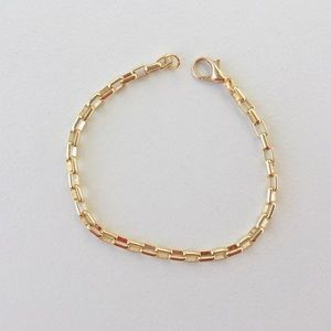 Simple Gold Chain Stacking Bracelet